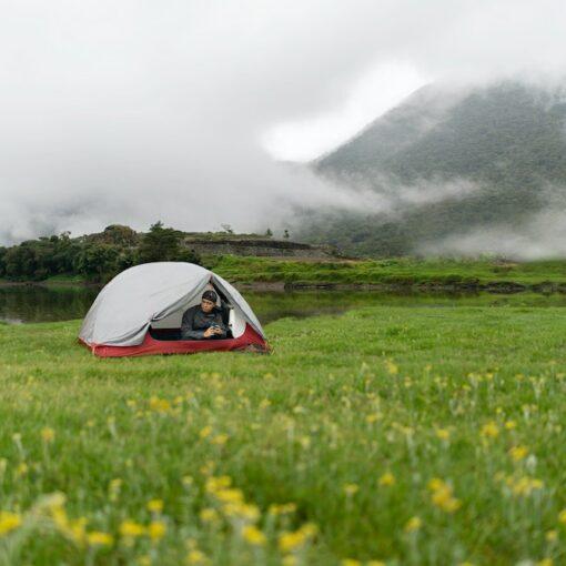 Aufblasbares Zelt Test