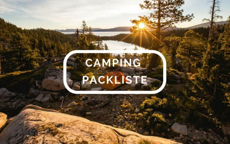 Camping Packliste Übersicht