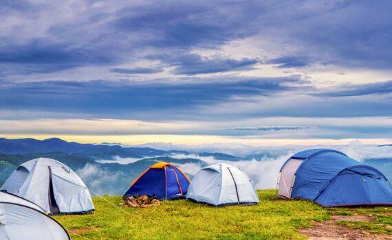 Zelt für Festival Test