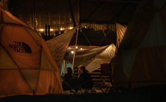 Zelt mit 2 Schlafkabinen Test