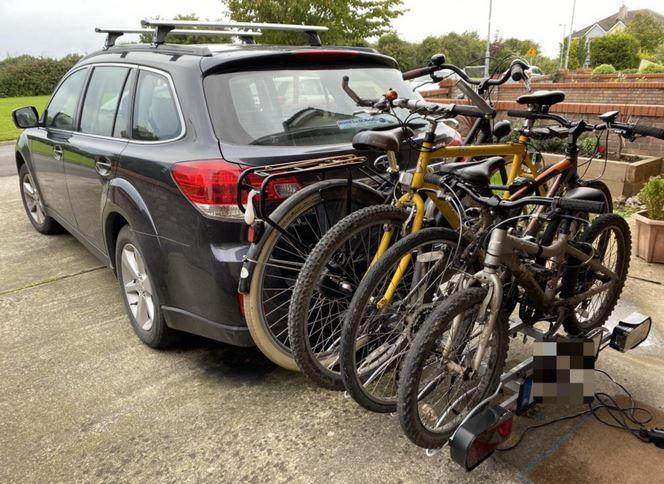 Fahrradträger für vier Fahrräder
